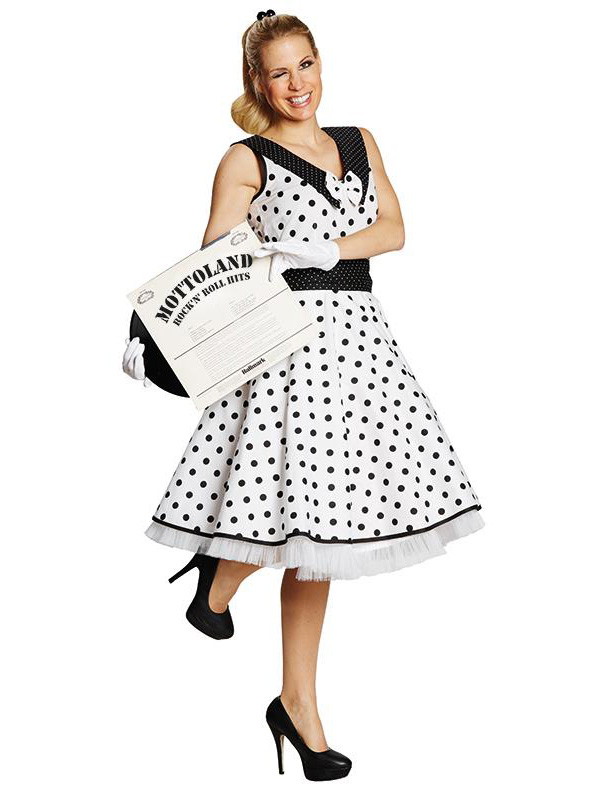 Sixties Kleid ROCKABILLY weiß 50er 60er