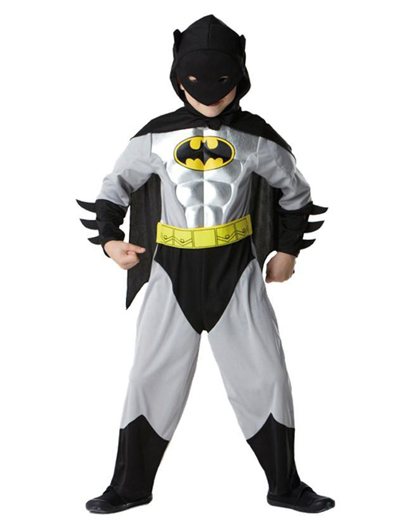 Batman Metallic Deluxe Kostüm Gr. M (Kinder)