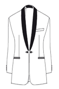 Wilvorst Schalkragen Smoking 6tlg Regular Fit | Black Tie Tuxedo